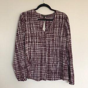 Maroon blouse - cross cross back